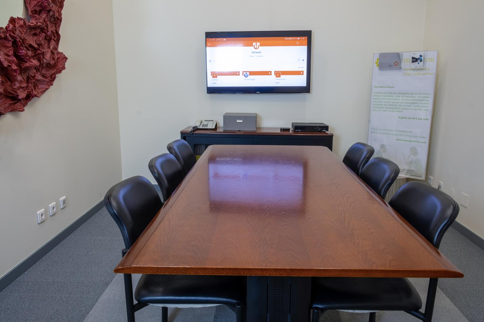 Sala de reuniões totalmente equipada